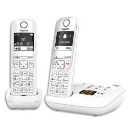 GIGASET Téléphone sans fil AS690A avec répondeur Duo Blanc AS690ADUOBLC photo du produit