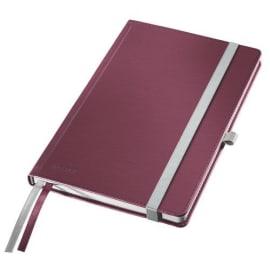 LEITZ Cahier STYLE 160 pages lignées, couverture rigide. Format A5. Fermeture élastique. Coloris Rouge photo du produit