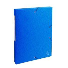 EXACOMPTA Boîte de classement EXABOX en carte lustrée 7/10e. Dos de 2,5 cm. Coloris Bleu photo du produit