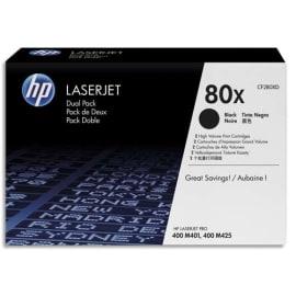 HP Pack 2 cartouches Laser Noir XL CF280XD photo du produit