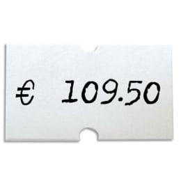 AGIPA Pack de 6 rouleaux de 1000 étiquettes Blanches rectangulaires 21X12mm pour pinces 151991-101418 photo du produit