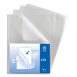 VIQUEL Sachet 10 pochettes coin PP grainé 13/100e. Coloris incolore photo du produit