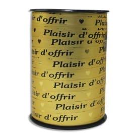 CLAIREFONTAINE Bobine bolduc de comptoir 225x1cm. Coloris Or Plaisir d'offrir Noir photo du produit