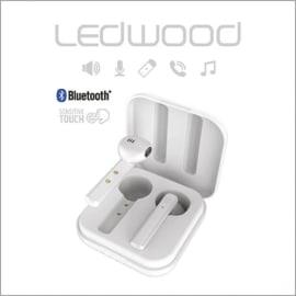 LEDWOOD Ecouteurs intra-auriculaires sans fil Blanc, touch contôle, USB TYPE-C photo du produit