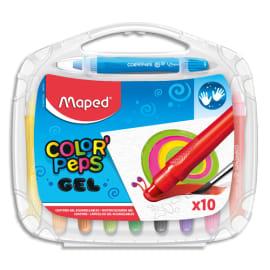 MAPED Boîte de 10 craies gel Smoothy ColorPeps assorties photo du produit