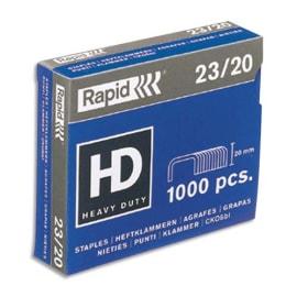 RAPID Agrafes Nº23/20 en boîte de 1000 photo du produit