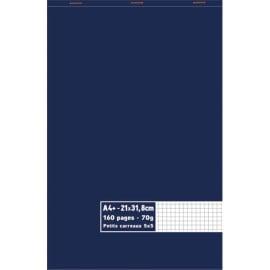 Bloc 70g agrafé en tête 160 pages petits carreaux 5x5 maxi format A4+ 21 x 31,8 cm photo du produit