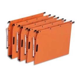 OBLIQUE AZ Boîte de 25 dossiers suspendus ARMOIRE en kraft 240g. Fond 30, VELCRO®. Orange photo du produit