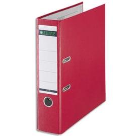 LEITZ Classeur à levier 180 degrés, en carton rembordé de polypropylène, dos 8cm, coloris Rouge photo du produit