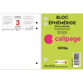 CALIPAGE Bloc éphéméride Date à droite, horaire et rendez-vous à Gauche - Format : 8,5 x 11,5 cm photo du produit