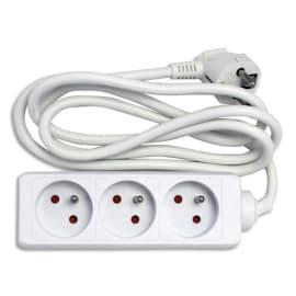 JPC Bloc multiprises électriques 3 prises électriques 1,5m photo du produit