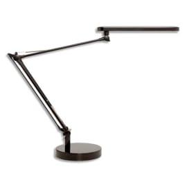 UNILUX Lampes à Led Mamboled Noire en ABS et alu - Bras 2 x 32 cm, Tête 28,5 x 4,5 cm Socle D16 x H2,5 cm photo du produit
