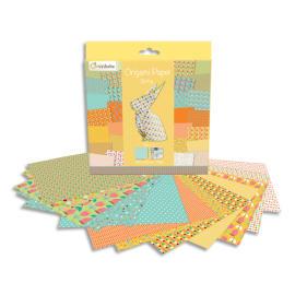 AVENUE MANDARINE 60 feuilles 20x20cm Origami Spring imprimé 2 faces avec 1 planche de stickers yeux photo du produit