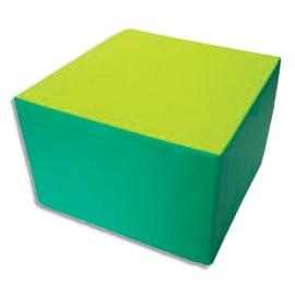 SUMO Pouf carré en mousse 60x60x40cm Vert/ Jaune photo du produit