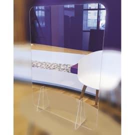 Vitre de protection en Plexiglass. Dimensions l75xh90cm. Epaisseur 3mm et pieds 8mm. photo du produit