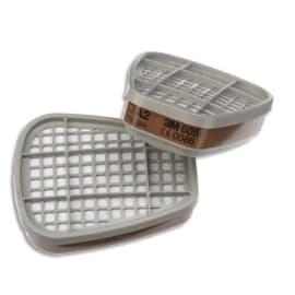 3M Boîte de 4 sachets de 2 Cartouches A2 vapeurs organiques K6055 photo du produit