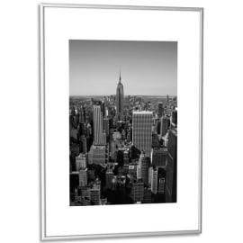 PAPERFLOW Cadre photo contour aluminium coloris Argent, plaque en plexiglas. Format 60 x 80 cm photo du produit