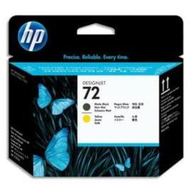 HP Tëte d'impression Noire mat et Jaune n°72 C9384A photo du produit