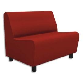 Chauffeuse modulaire 2 places Izar Rouge pur Trevira Rouge puren tissu polyester, structure métallique photo du produit