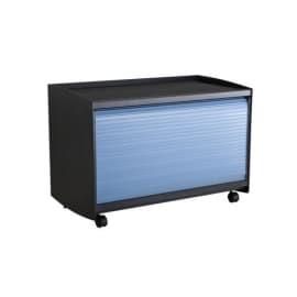 PAPERFLOW Réserve de rangement pour présentoir accueil coloris Noir/Bleu, 33,5X71,7X38 photo du produit