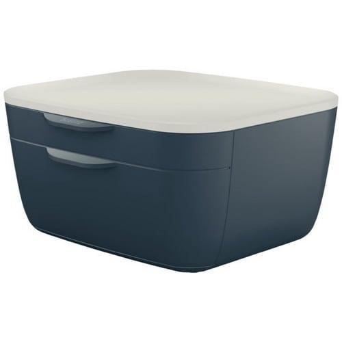 LEITZ Bloc de classement COSY. Dimensions : L26,8 x H16,2 x P29,3 cm. Coloris gris foncé. photo du produit Principale L