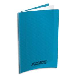 Cahier piqûre 24x32cm 96 pages 90g grands carreaux Séyès. Couverture polypropylène Bleu turquoise photo du produit