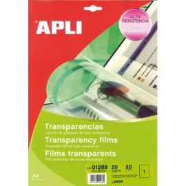 APLI Film transparents pour imprimante Laser Noir et Blanc B/100 photo du produit