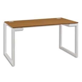 GAUTIER OFFICE Table d'appoint Sunday Chêne, 2 passe-câbles sur plan bois - Dim. : L120 x H73 x P60 cm photo du produit