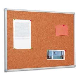 BI-OFFICE Tableau d'affichage en Liège, cadre en PVC Gris - Format : L120 x H90 cm photo du produit