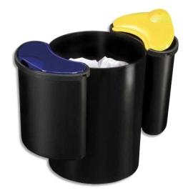CEP Kit de tri sélectif : 1 corbeille à papier Noir Confort 16L + 2 compartiments de 4,5L chacun photo du produit