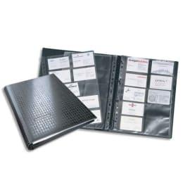 DURABLE Porte-cartes Visifix A4 Centium pour 400 cartes de visite L90 x H57 mm - 12 touches A-Z - Noir photo du produit