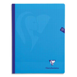 CLAIREFONTAINE Cahier MIMESYS brochure cousue 192 pages Séyès 24x32. Couverture polypropylène Bleue photo du produit
