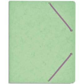 Chemise trieur simple à élastique. Carte lustrée 5/10e. Coloris assortis pastels et vifs photo du produit