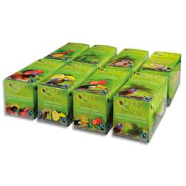 PURO 8 Boîtes 25 sachets thés Earl grey, Vert, Fraise, Citron, Fruits Bois et Eglantier, Rooibos, Menthe photo du produit