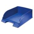 LEITZ Corbeille à courrier Leitz Plus Jumbo - Bleu - Dim L25,5 x H10 x P36 cm photo du produit
