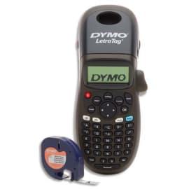 DYMO Titreuse LetraTag Noire 100H incluant 1 ruban papier blanc 12mmx4m photo du produit