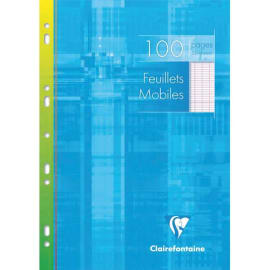 CLAIREFONTAINE Copies simples format 21x29,7cm 100 pages grands carreaux Séyès Blanc 90g sous étui carton photo du produit