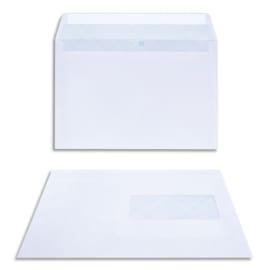 BONG Boîte de 200 enveloppes DL 162x229mm Blanc 80g auto-adhésive 23040 photo du produit