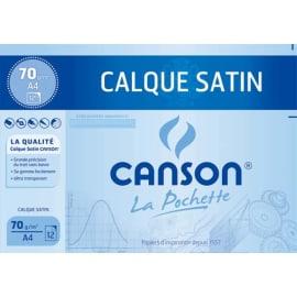CANSON Pochette de 12 feuilles papier calque satin 90g 24x32cm Ref 2772 photo du produit