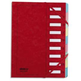 EXTENDOS Trieur en carte forte vernie 9 compartiments Rouge MON DOSSIER photo du produit