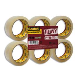 SCOTCH Adhésif d'emballage Heavy en polypropylène 57 microns - H50 mm x L66 mètres Transparent BP976 photo du produit