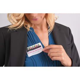 AVERY Boîte de 200 badges adhésifs en tissu soie acétate Blanc 80 x 50 mm + 200 inserts imprimables photo du produit