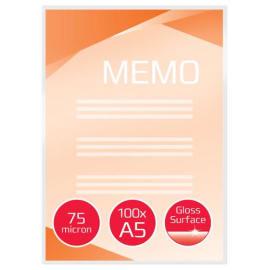 GBC Paquet de 100 Pochettes de plastification GBC A5, 2 x 75 microns, brillantes 3740451 photo du produit