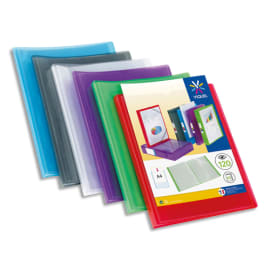 VIQUEL Protège documents personnalisable PROPYGLASS, 120 vues 60 pochettes. Coloris assortis photo du produit