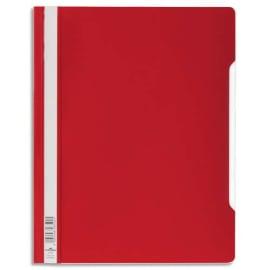 DURABLE Chemise de présentation à lamelles A4+ - gouttière de passage - couverture pvc transparente Rouge photo du produit