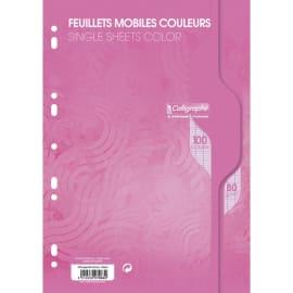 CALLIGRAPHE Copies simples Rose perf 2 trous 80g 100 pages grands carreaux Séyès format A4. Film-CAL 7000 photo du produit