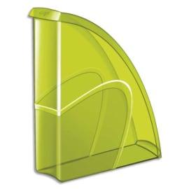 CEP Porte-revues HAPPY en polystyrène translucide - Dimensions H31 x P27 cm, dos 8,5cm. Coloris Vert photo du produit