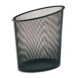 ALBA Corbeille à papier en métal Mesh Noir 18 litres - Dimensions : L35,5 x H39 x P20 cm photo du produit