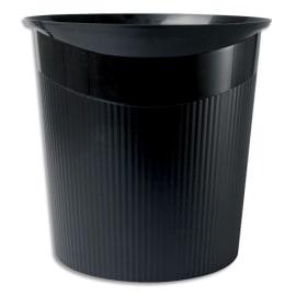 HAN Corbeille à papier Loop Noir en polypropylène - Dimensions L29 x H28,6 x P22,7 cm photo du produit