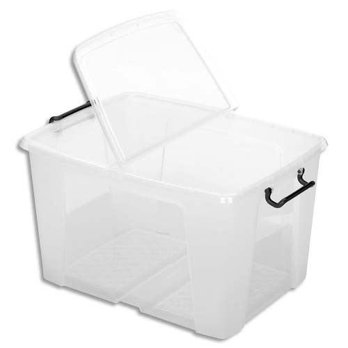 CEP Boîte de rangement Smart Box Strata avec couvercle clipsé Dim int.49,3x33,4x35,3 cm transparent 65L photo du produit Principale L